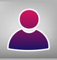 user sign purple gradient vector image vector image