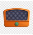 vintage radio icon cartoon style vector image