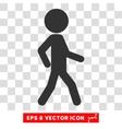 Walking Child Eps Icon vector image