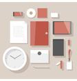 Flat design corporate identity mock-up vector image