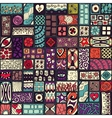 Seamless pattern with doodle frames Colored vector image