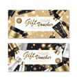 cosmetic gift voucher design vector image