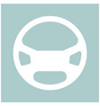 steering wheel the white color icon vector image