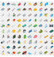 100 corporation icons set isometric 3d style vector image vector image