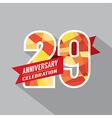 29th Years Anniversary Celebration Design vector image