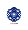 Abstract Flower Blue Mandala Icon over vector image vector image