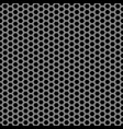 abstract gray black hexagon mesh pattern seamless vector image vector image