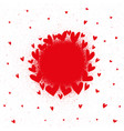 abstract of paint hearts vector image vector image