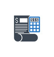 accounting related glyph icon vector image vector image