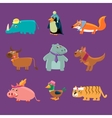 Adorable Animals Collection vector image vector image