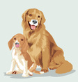 animal dog vector image