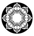 Antique ottoman turkish design eight vector image vector image