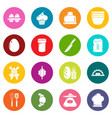bakery icons set colorful circles vector image vector image