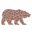 bear pattern of electric guard items vector image