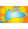 Black sea region vector image vector image