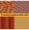 Brick wall set of seamless textures vector image vector image