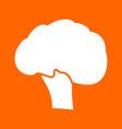 broccoli white icon vector image vector image