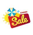 bunner summer sale sun and beach umbrella as vector image vector image