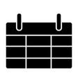 calendar solid icon reminder vector image