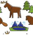 canadian nature seamless pattern animals