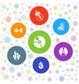 cd icons vector image vector image