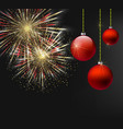 christmas and new year dark background vector image vector image