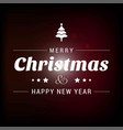 christmas card with dark background vector image vector image