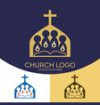 church logo and christian symbols vector image vector image
