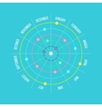 Circle timeline template infographic with months vector image vector image
