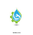 cleaning service logo emblem vector image