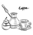 coffee pot and cup with sugar container set