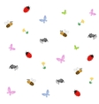 Collection of cartoon insects vector image vector image