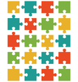 colorful shiny puzzle 20 vector image vector image