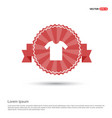 cotton t-shirt icon - red ribbon banner vector image vector image