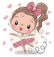 cute ballerina on a white background vector image