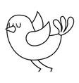 cute cartoon bird animal beauty vector image vector image