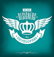 designer vintage badge vector image