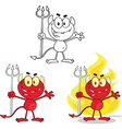 Devil cartoon vector image vector image