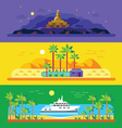 Different landscapes vector image vector image