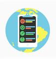 e-medicine smartphone concept vector image vector image
