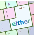 either word on computer pc keyboard key vector image vector image