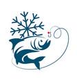fish winter fishing vector image vector image