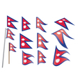 flag of Nepal vector image vector image