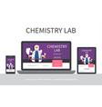flat chemistry laboratory adaptive design concept vector image