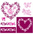 flower frame heart 380 vector image vector image