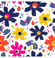 flower pattern with flowers hand drawn vector image