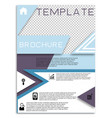 flyer design business brochure template annual vector image vector image