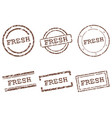fresh stamps vector image vector image