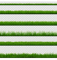 grass border collection isolated transparent vector image vector image