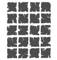 hand drawn broken tiles vector image